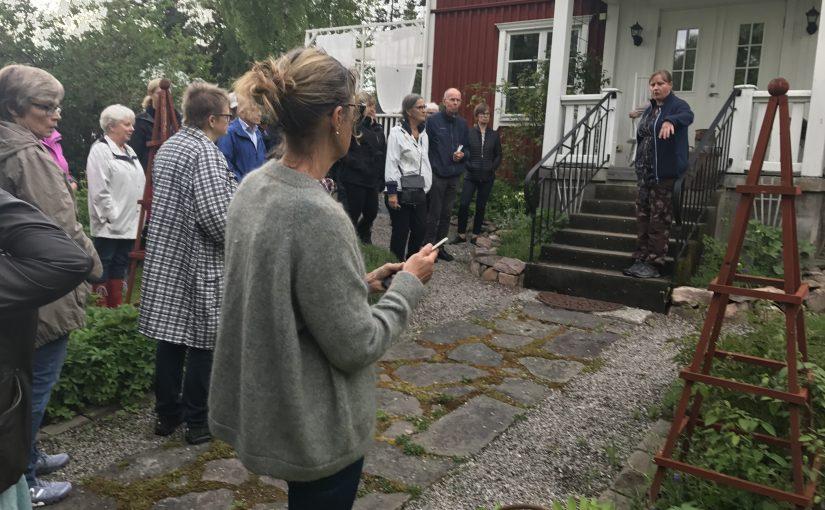 Linn Malmén visade sin trädgård